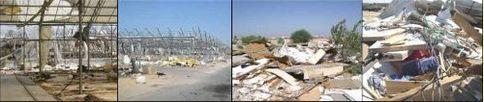 Las invernaderos destruidos