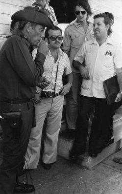 Omar Torrijos y varios periodistas, entre ellos Francisco Rubiales, en 1979