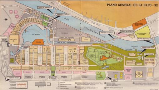Primer plano del recinto Expo 92