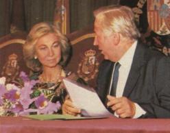 La reina Sofía y el comisario Olivencia