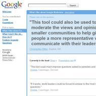 La Casa Blanca utiliza Google Moderator para perfeccionar la democracia