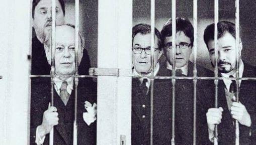 Una de las muchas imágenes que circulan por Internet sobre el golpe de Estado de Puigdemont