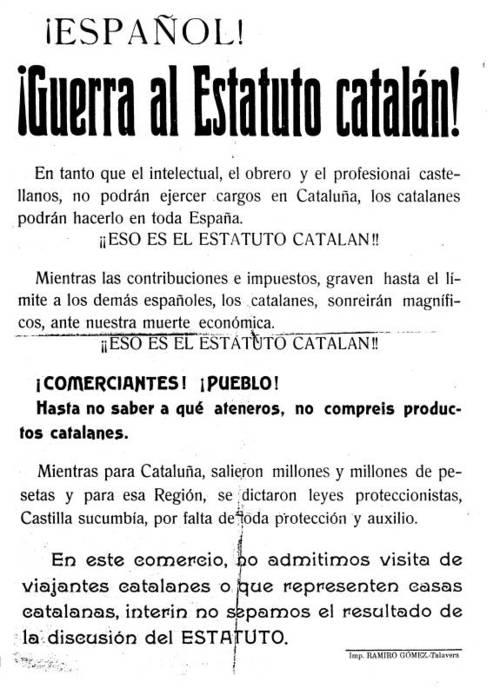 CONTRA EL ESTATUTO DE CATALUÑA