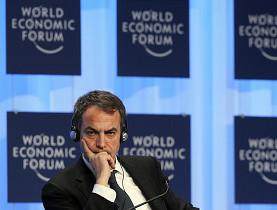 Zapatero, un cateto en Davos