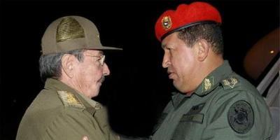Raul Castro y Hugo Chávez