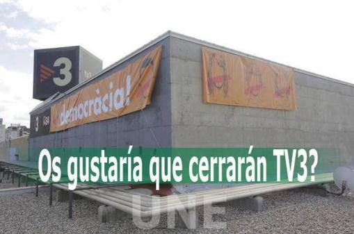 La solución del drama catalán es cerrar TV3, motor del odio a España