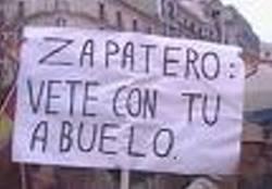 Pancarta en Madrid