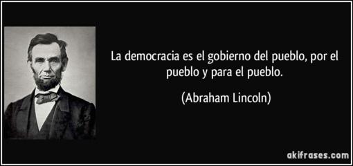 La democracia que proclamaba Lincoln ha sido prostituida por los partidos políticos