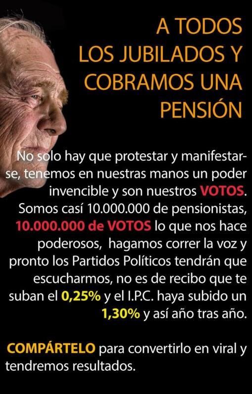 Una de las imágenes de la protesta de los pensionistas en Internet