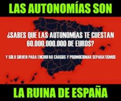 Uno de los muchos memes anti autonomías que circulan por España