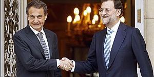 Zapatero y Rajoy, una reunión decepcionante