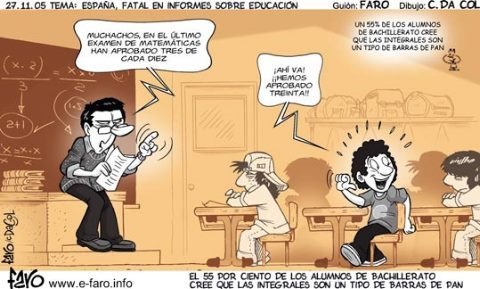 Enseñanza de las matemáticas en España (Humor trágico de fin de semana)