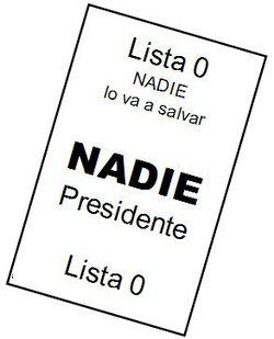 (DS) El Voto en Blanco será la primera revolución pacífica del siglo XXI