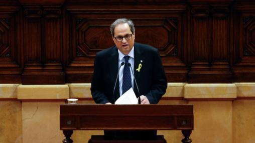 El discurso de investidura de Quim Torra fue una evidente declaración de guerra a España
