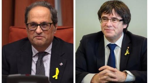 Puigdemont y Quim Torra, el dúo de la amenaza y el peligro