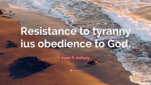 La resistencia al tirano es obediencia a Dios