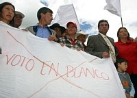 FRENTE A LA DEGRADACIÓN DE LA DEMOCRACIA, EL VOTO EN BLANCO