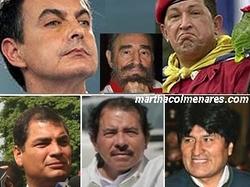 Zapatero y sus amigos socialistas