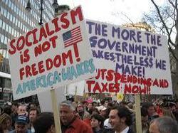 """""""Tea Party"""": menos despilfarro, menos corrupción, menos impuestos, menos gobierno... menos Obama, menos Zapatero"""