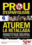 Juventudes de ERC: 'Venid y arrancad una página de la Constitución española'