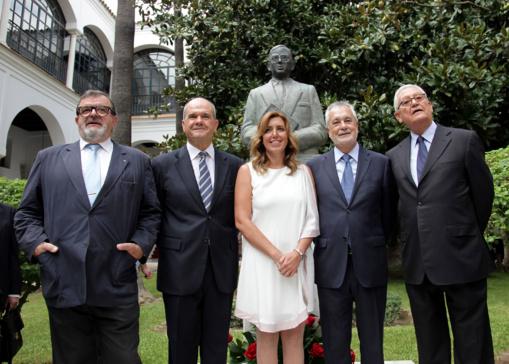 Los cinco presidentes socialistas de Andalucía, artífices del Cortijo