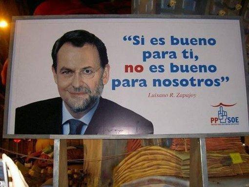 """""""Si es bueno para el PSOE y el PP, no es bueno para los ciudadanos"""""""