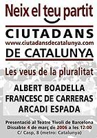 Bienvenida a Ciutadans de Catalunya. Lástima que se haya convertido en partido político