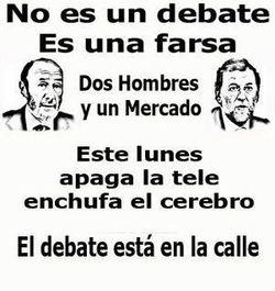 Rajoy - Rubalcaba: un debate falso y trucado