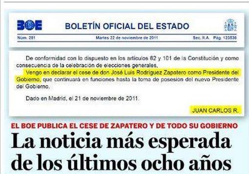 La mejor noticia del último lustro: Zapatero ha cesado