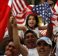 Un 'primero de mayo' de lucha hispana en USA