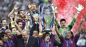 El Barça ganó la Champion y olvidó ante el rey y el presidente del gobierno que es un equipo español