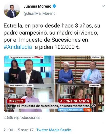"""Uno de los muchos twits"""" olvidados"""" del presidente andaluz"""