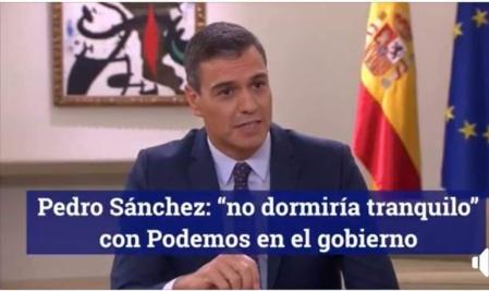 Mentiroso y peligroso, Sanchez avanza hacia la ruina de España