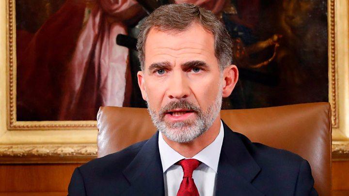 """En su gran discurso contra el independentismo y el golpismo en Cataluña, el rey habló con brío y solvencia de """"Una deslealtad inadmisible hacia los poderes del Estado"""""""