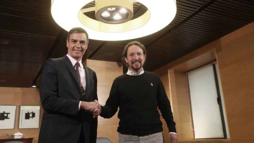 Sanchez e Iglesias, un pacto peligroso y dañino para España, causante de dolor y miedo
