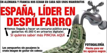 Una de las miles de imágenes que inundan las redes denunciando el despilfarro español