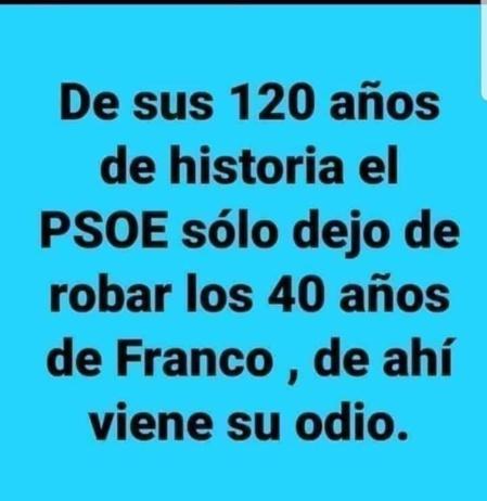 Una de las decenas de miles de inagenes críticas con el PSOE que circulan por las redes sociales de España.