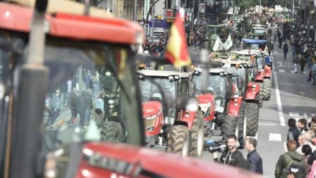 El campo español contra el gobierno