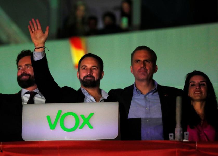 Abascal y los pretorianos de VOX