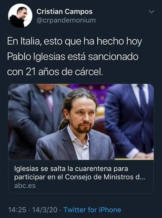 Una de las muchas imágenes que circularon por las redes, que impactaron a España y que dinamitaron la imagen del gobierno