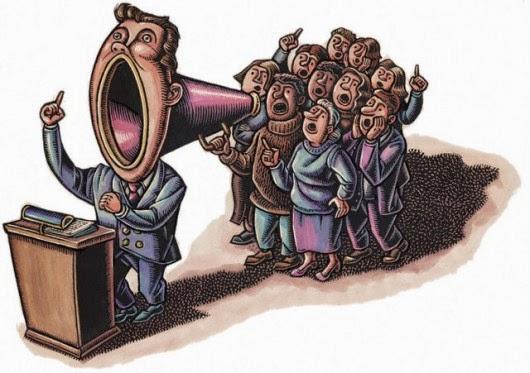 La verdadera democracia otorga protagonismo pleno a la voluntad popular y a las leyes comunmente aceptadas, no a los tiranos y fantoches corrompidos y mediocres