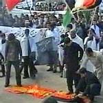 islamistas queman bandera española