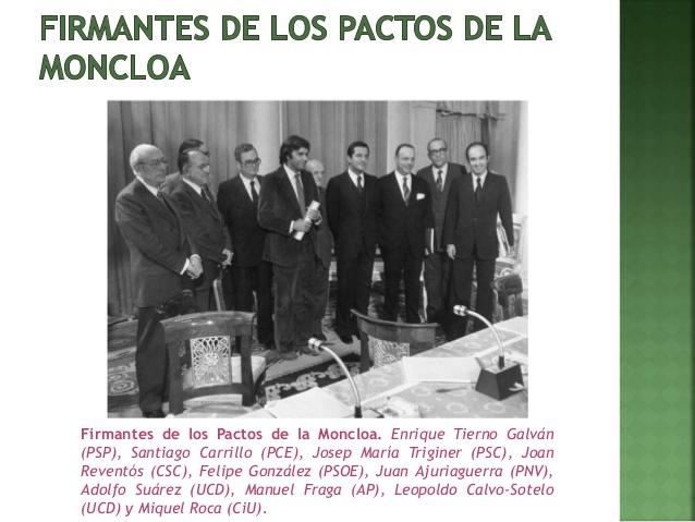 Los verdaderos pactos de la Moncloa fueron sinceros y decentes, justo lo contrario que los nuevos pactos que propone Pedro Sánchez