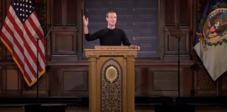 Libertad de expresión, mientras no se ataque  al poder dominante. En la imagen, Mark Zuckerberg, creador y mandamás de Facebook