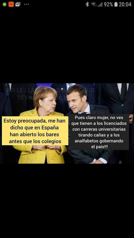 Una de las muchas imágenes que difunden los ciudadanos para atacar la bajeza blindada del gobierno de Pedro Sánchez