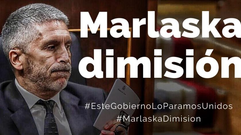 Una de las muchas imágenes que circulan por Internet pidiendo la dimisión del ministro Marlaska