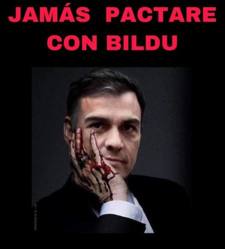 Una de las duras imágenes contra Pedro Sánchez que inundan Internet