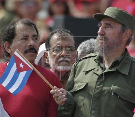 Fidel Castro y Daniel Ortega, maestro y discípulo