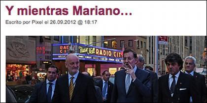 """La """"foto del puro"""" en Nueva York, reflejo de la casta gobernante"""