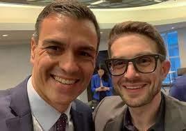 Pedro Sánchez con el hijo de George Soros. Con el padre también se ha reunido para planificar el futuro de España